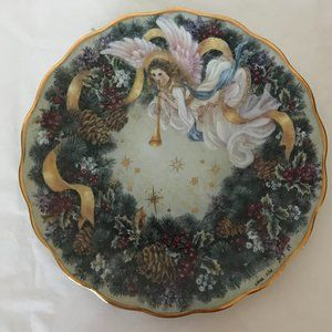 """Lena Liu """"Rejoice"""" porcelain angel plate"""